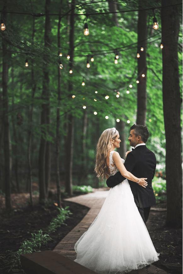 Mariage Extérieur Romantique