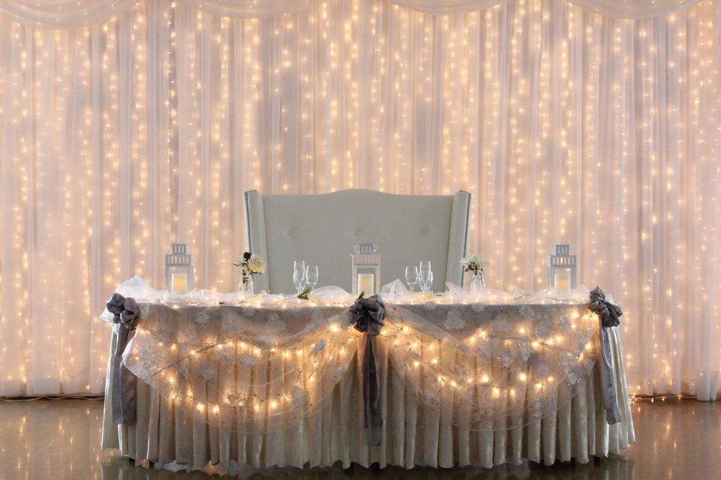 Table D'honneur Lumineuse Mariage