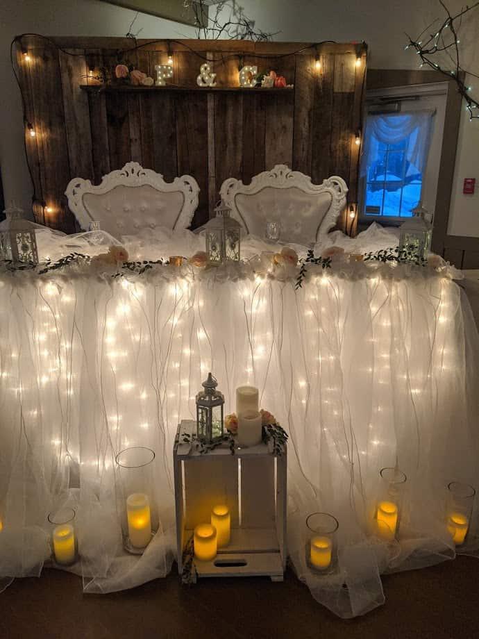 Table D'honneur Romantique