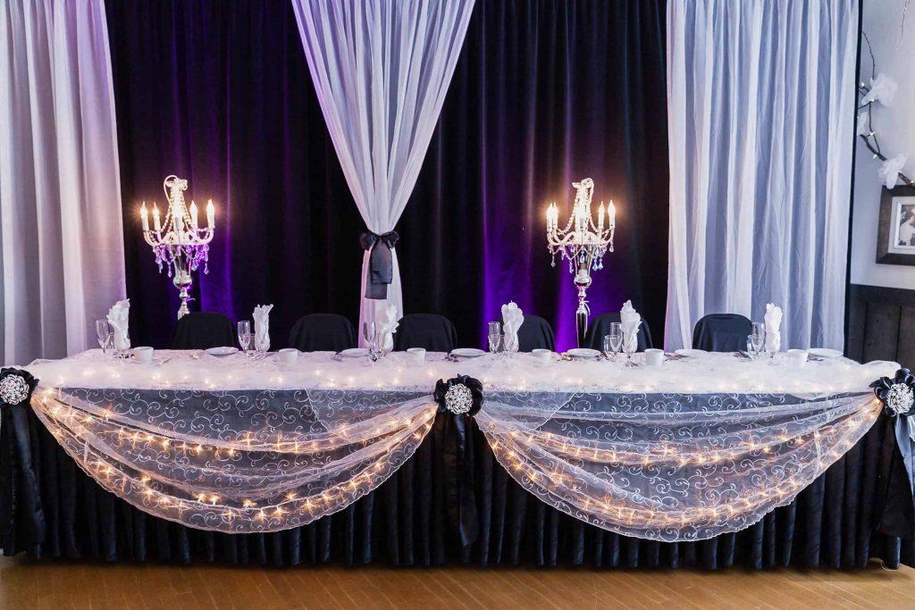 Table Honneur Chic Noir Et Blanc